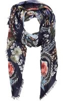 Givenchy Birds Of Paradise Peonies  Chain Scarf - Lyst