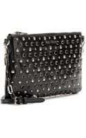 Miu Miu Embellished Leather Clutch - Lyst