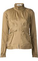 Yves Saint Laurent Vintage Safari Ruffle Jacket - Lyst
