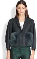 Burberry Prorsum Furpocket Leather Jacket - Lyst