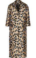 Adam Lippes Leopard Jacquard Coat - Lyst
