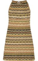 M Missoni Metallic Crochet-knit Mini Dress - Lyst