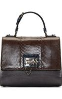 Dolce & Gabbana Cocoa and Cobalt Ayers Leather Medium Monica Bag - Lyst
