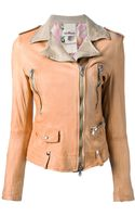 Unfleur Leather Biker Jacket - Lyst