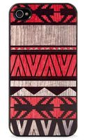 Blissfulcase Iphone 4 Aztec Geo Art Red Wood Print Case - Lyst