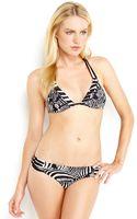 Trina Turk Zebra Print Triangle Bikini - Lyst