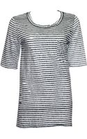 Free People Striped Tee - Lyst