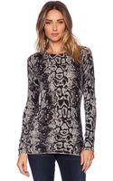 Autumn Cashmere Snake Print Sweater - Lyst