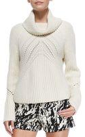 Rag & Bone Cece Cowl-neck Knit Sweater Almond X-small - Lyst
