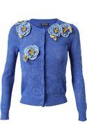 Meadham Kirchhoff Floral Crochet Pointelle Cardigan - Lyst