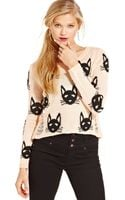 Material Girl Juniors Destroyed Graphic Sweater - Lyst