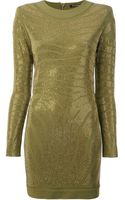 Balmain Fitted Dress - Lyst