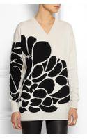 Bottega Veneta Intarsia Cashmere Sweater - Lyst