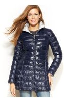 Laundry By Shelli Segal Reversible Packable Down Puffer Coat - Lyst