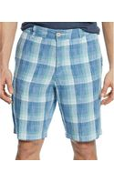 Tommy Bahama Big and Tall Plaid Lazy Linen Shorts - Lyst
