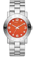Marc By Marc Jacobs Amy Stainless Steel Crystal Glitz Bracelet Watch - Lyst
