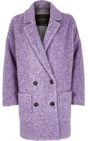 River Island Purple Oversized Coat - Lyst