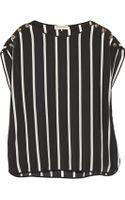 Emilio Pucci Striped Silk Crepe De Chine Top - Lyst