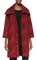 Caroline Rose Leopardprint Felt Coat - Lyst