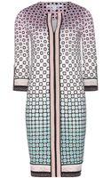 Diane Von Furstenberg Rose Silk Jersey Dress - Lyst