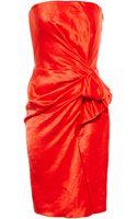 Lanvin Strapless Drape Dress - Lyst