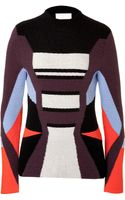 Peter Pilotto Wool Angora Blend Colorblock Pullover - Lyst