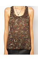 Iro Fine Knit Linen Tank Top in Camo Print - Lyst