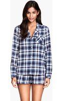 H&M Flannel Pyjamas - Lyst