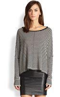Alice + Olivia Striped Boxy Sweater - Lyst