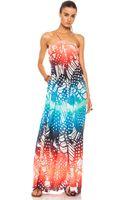 Diane Von Furstenberg Annie Silk Printed Dress - Lyst