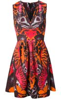 McQ by Alexander McQueen Printed Skater Dress - Lyst