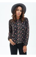 Forever 21 Floral Print  Lace Top - Lyst