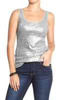 Old Navy Sequined Tanks - Lyst
