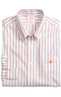 Brooks Brothers Noniron Slim Fit Framed Stripe Sport Shirt - Lyst