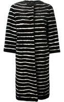 Liska Striped Mink Fur Coat - Lyst