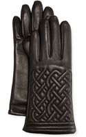 Grandoe Cable-quilted Leather Gloves - Lyst