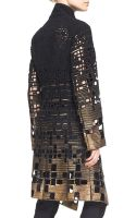 Donna Karan New York Belted Embroidered Coat - Lyst