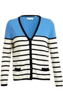 Chinti & Parker Colour Blocked Striped Cardigan - Lyst