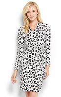 Diane Von Furstenberg Valencia Printed Wrap Dress - Lyst