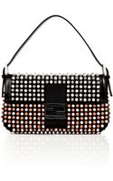 Fendi Blackmulti Studded Claudia Baguette Bag - Lyst