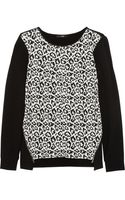 Tibi Stretchjersey and Leopardjacquard Sweater - Lyst