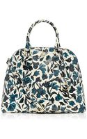 Tory Burch Robinson Floral Open Dome Satchel - Lyst