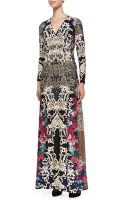 Melissa Masse Printed Luxe Jersey Maxi Dress - Lyst