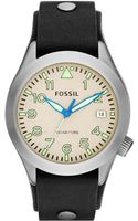 Fossil Mens Aeroflite Black Leather Strap Watch 44mm - Lyst