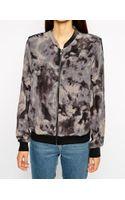 American Vintage Silk Printed Bomber Jacket - Lyst
