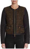 Michael Kors Quiltedsleeve Tweed Jacket - Lyst