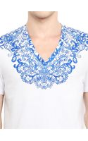 Alexander McQueen Cotton Jersey Laced Printed T-shirt - Lyst