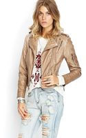 Forever 21 Textured Faux Leather Jacket - Lyst