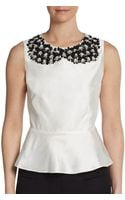 Raoul Embellished Flounce Top - Lyst