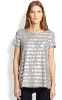 Weekend By Maxmara Dalmine Metallic-striped Tee - Lyst
